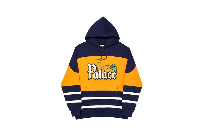 Palace Fall Winter 2019 August Drop 3 Hoodie Blue Yellow