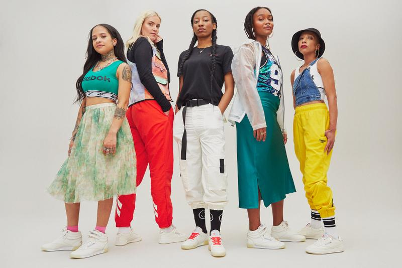 Reebok It's A Man's World Campaign Club C Workout Freestyle Hi Cream Jazerai Allen Lord Kimberly Drew Distortedd Girls On Kicks WondaGurl
