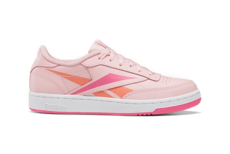Reebok Club C Oversized Logo Vector Sneaker Overbranded Pink