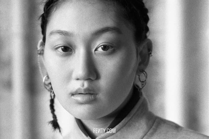 FENTY Release 8-19 Campaign Blazer Grey Earrings Silver