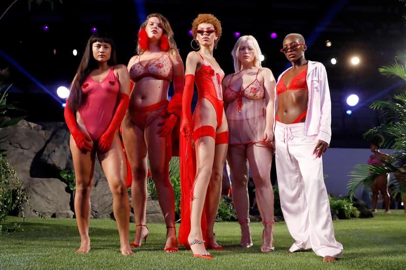Savage X Fenty Fall Winter 2018 Show New York Fashion Week Bras Underwear Red