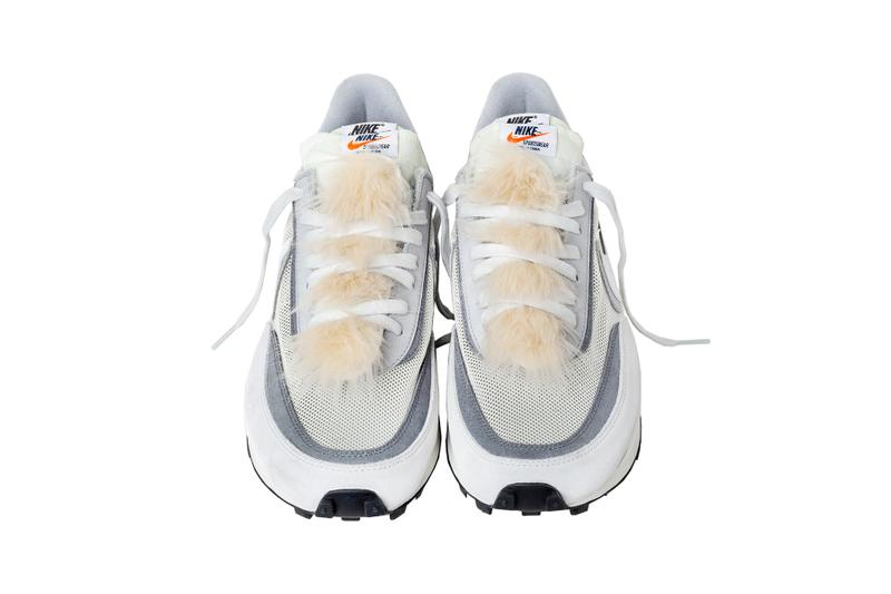 sacai nike ldwaffle daybreak blazer mid sneakers tongue accessories fur zipper aoyama