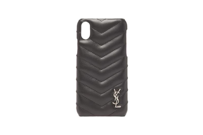 Saint Laurent Lou Quilted Leather iPhone Case Black