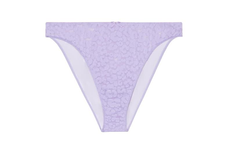 Savage X Fenty Leopard Lace Underwear Purple