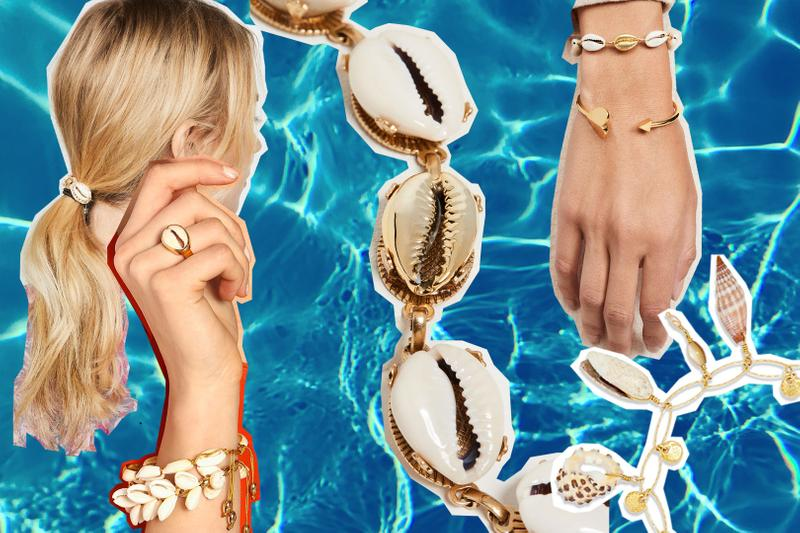 best seashell shell jewelry earrings necklaces bracelets accessories affordable summer beach madewell isabel marant