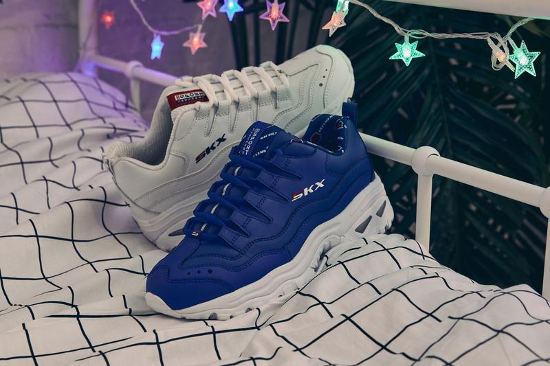 Skechers Energy White Blue Spring Summer 2019 Lookbook