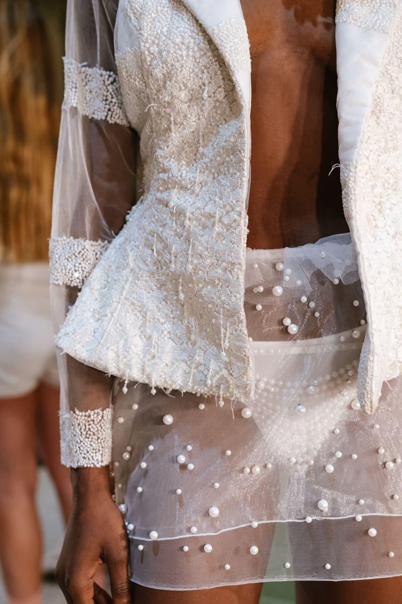 Slashed By Tia Spring Summer 2020 Presentation Jacket Skirt White