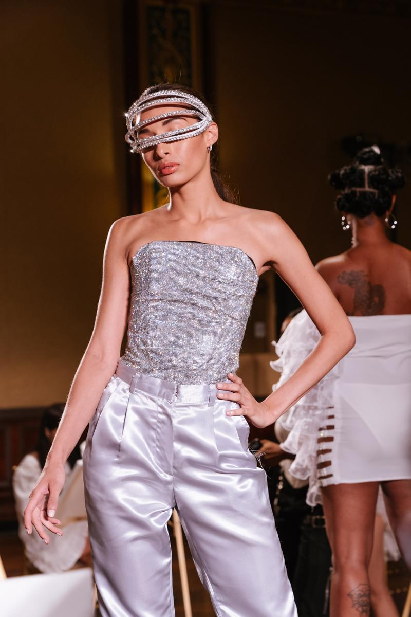 Slashed By Tia Spring Summer 2020 Presentation Top Pants Silver