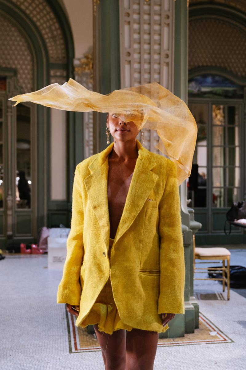 Slashed By Tia Spring Summer 2020 Presentation Jacket Skirt Yellow