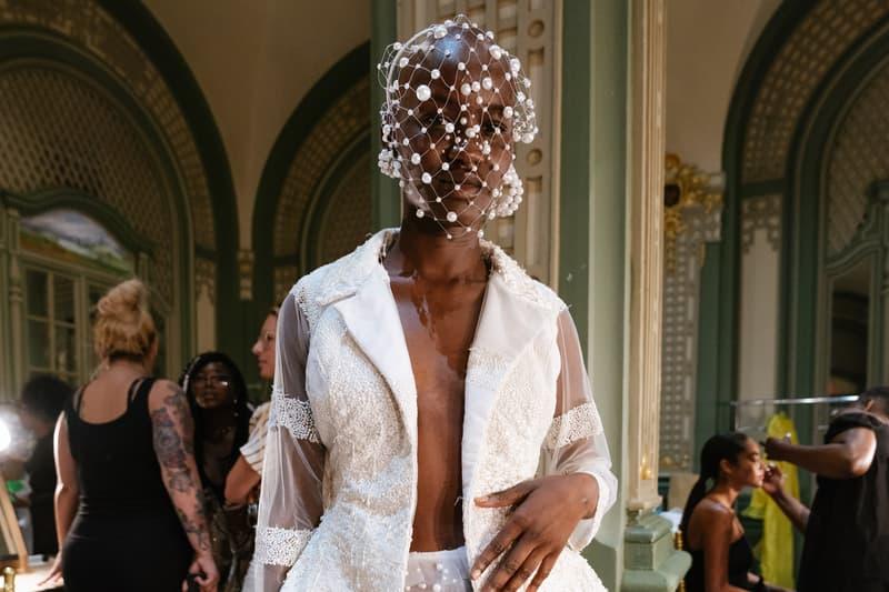 Slashed By Tia Spring Summer 2020 Presentation Jacket Pearl Mask White