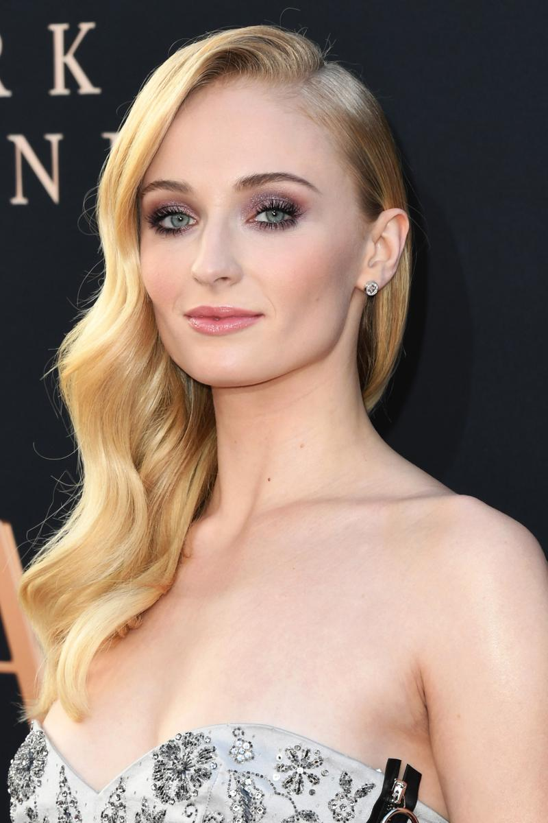 Sophie Turner Dress Silver