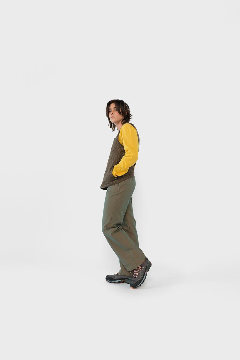 Stussy Womens Fall Winter 2019 Collection Lookbook Shirt Yellow Pants Green