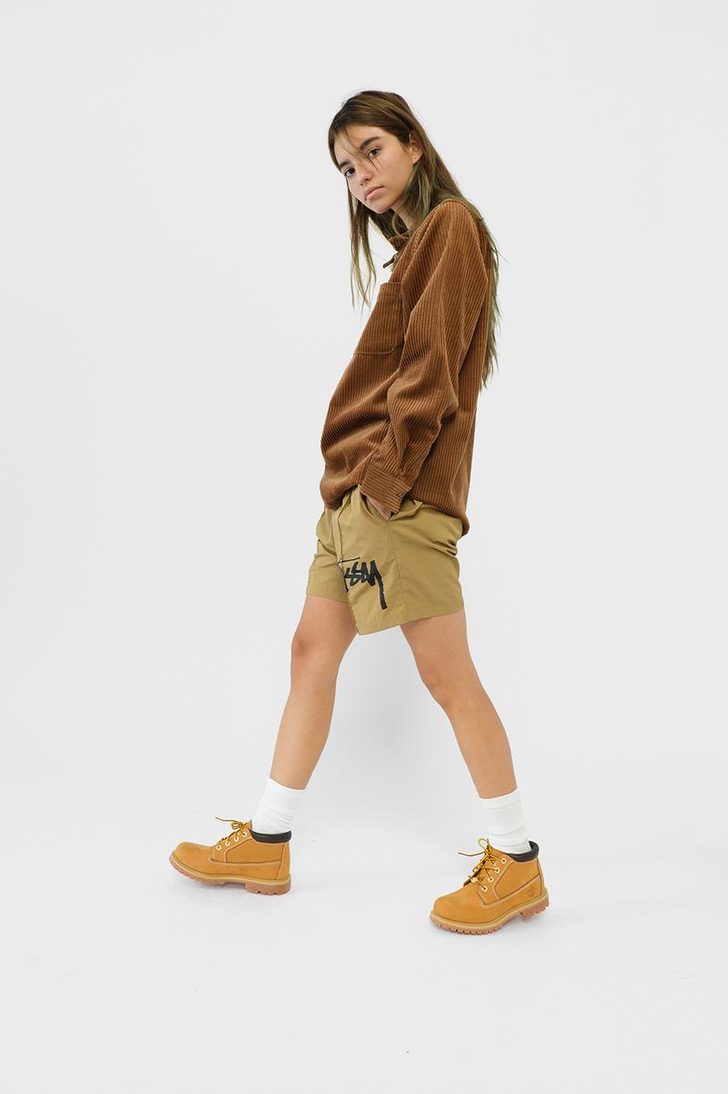 Stussy Womens Fall Winter 2019 Collection Lookbook Jacket Shorts Brown