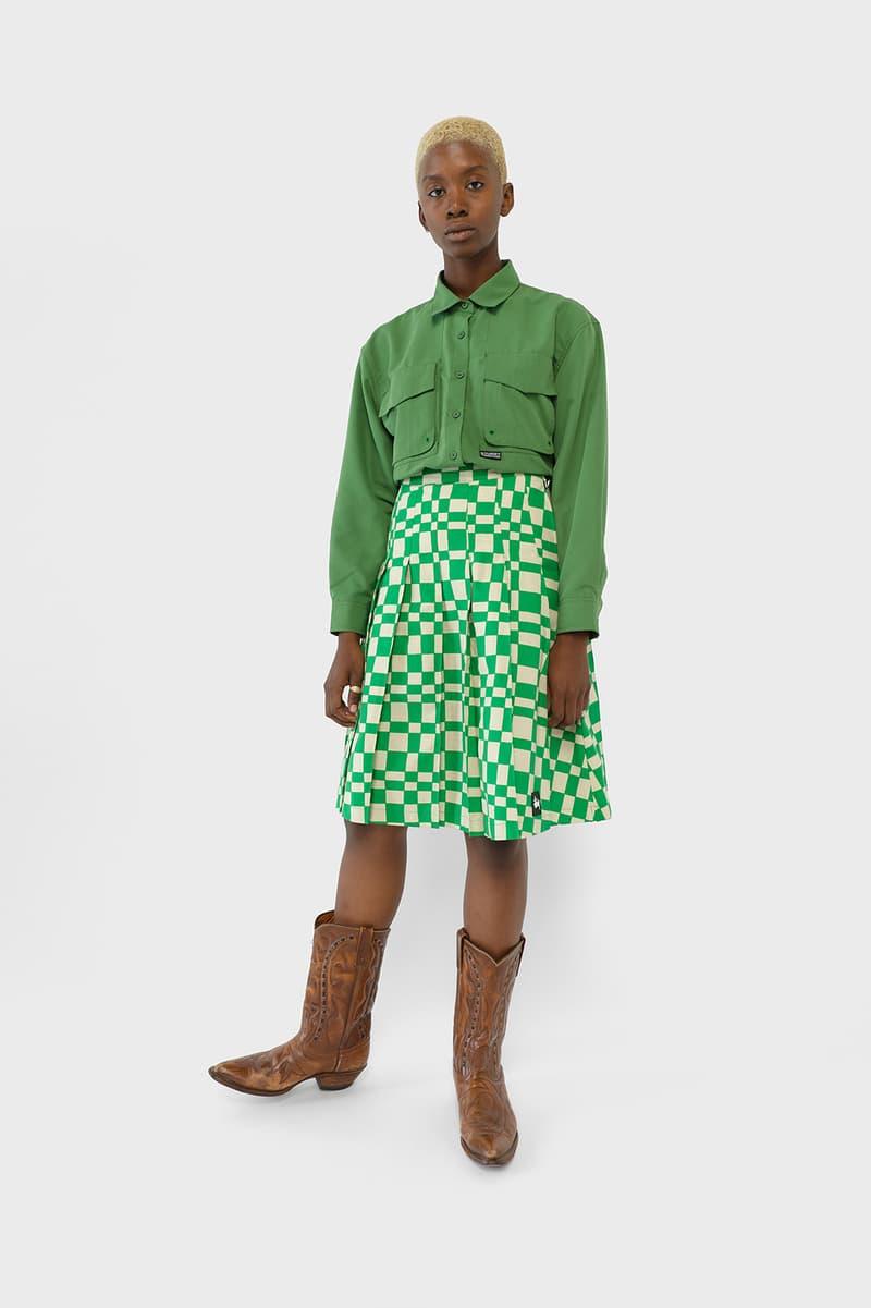 Stussy Womens Fall Winter 2019 Collection Lookbook Shirt Skirt Green
