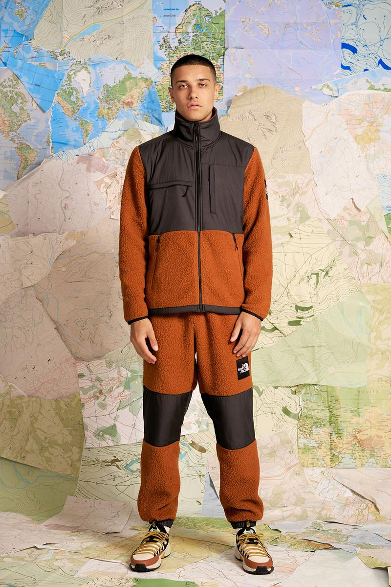 the north face back to trail collection retro 90s escape edge sneakers lhotse jackets denali fleece pink blue