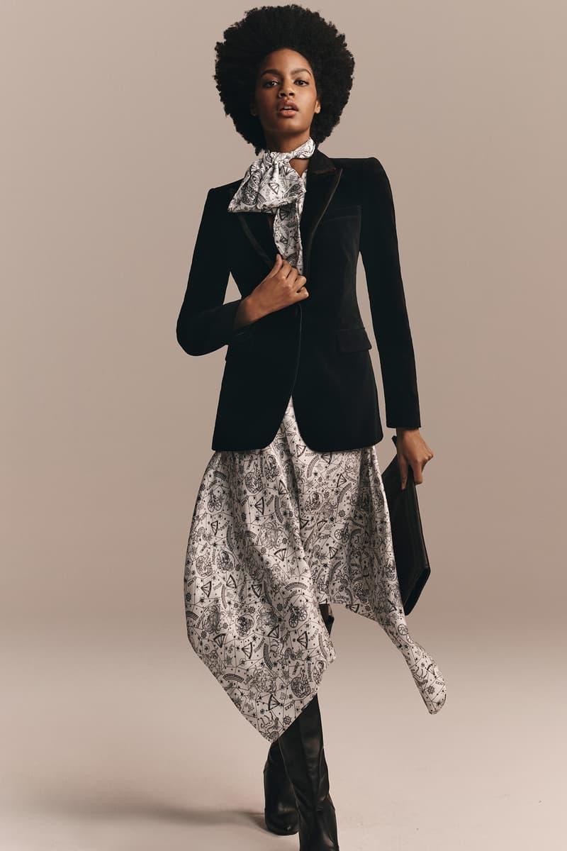 TommyXZendaya Fall Winter 2019 Collection Lookbook Ebonee Davis Jacket Black Dress Grey