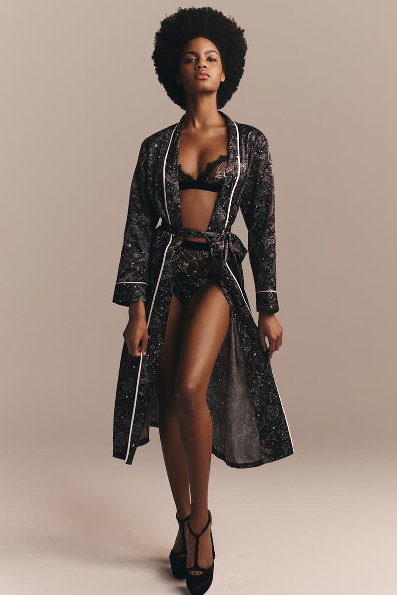 TommyXZendaya Fall Winter 2019 Collection Lookbook Ebonee Davis Robe Bra Underwear Black
