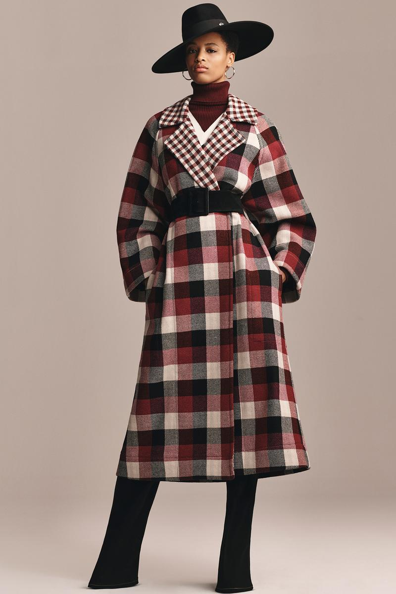TommyXZendaya Fall Winter 2019 Collection Lookbook Plaid Coat Red White Black