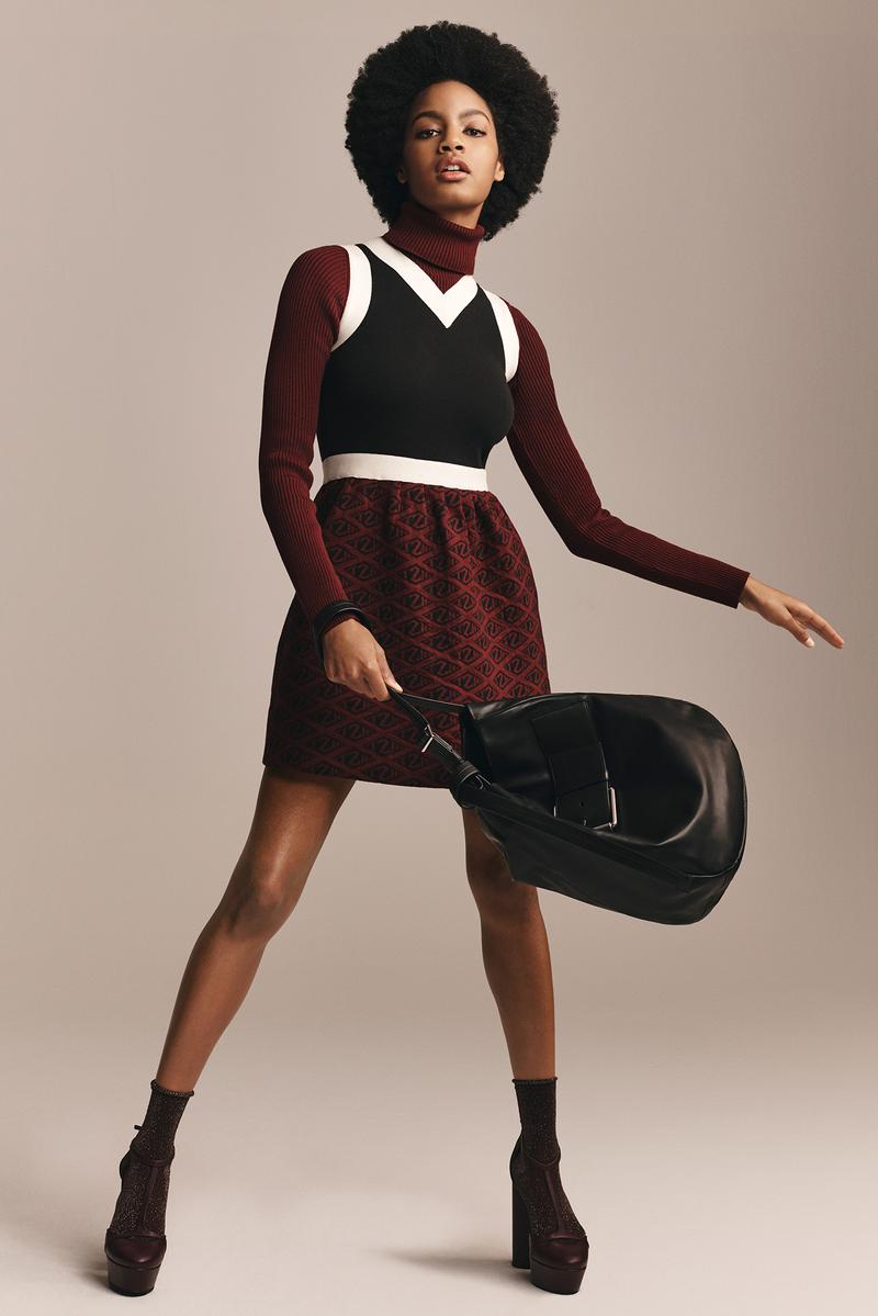 TommyXZendaya Fall Winter 2019 Collection Lookbook Dress Maroon Top Black