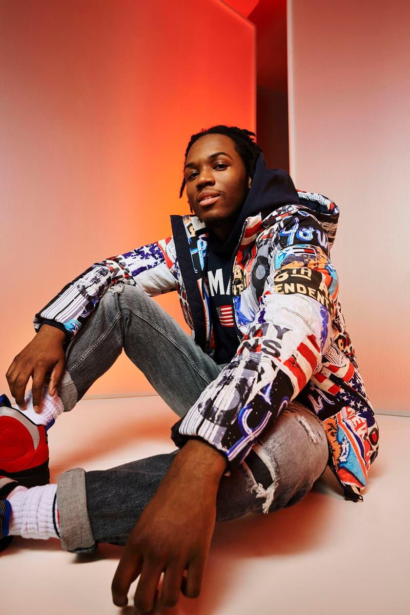 tommy jeans hilfiger fall 2019 lookbook music iv jay glowie saba sunni colon apparel streetwear jackets outerwear