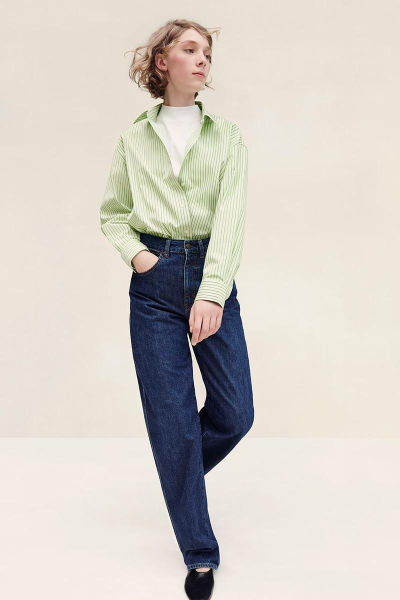 Uniqlo U Fall Winter 2019 Lookbook Shirt Green Pants Blue