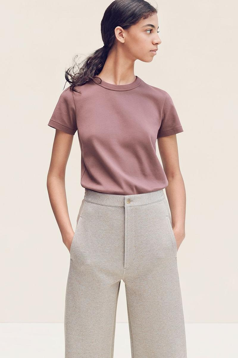 Uniqlo U Fall Winter 2019 Lookbook Shirt Purple Pants Tan