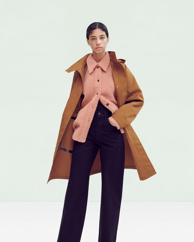 Uniqlo U Fall Winter 2019 Lookbook Jacket Brown Shirt Pink