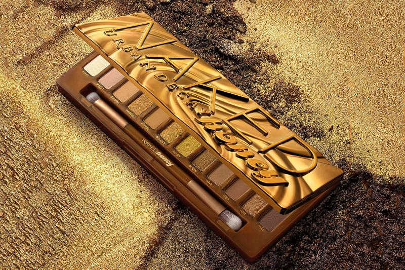 urban decay naked honey eyeshadow palette makeup gold brown nude shades matte shimmery glitter