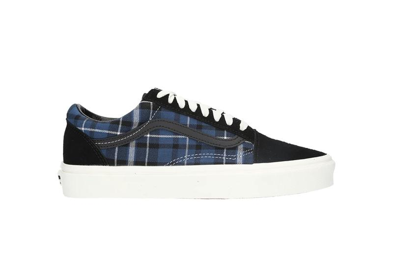Vans Old Skool Plaid Check Pattern Sneaker Silhouette Trainer Release Blue Black White