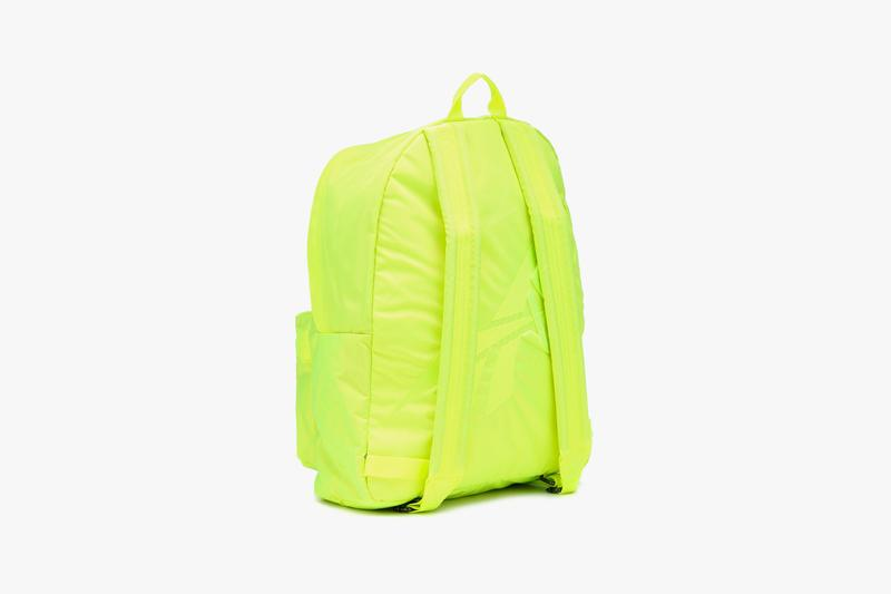 reebok victoria beckham neon backpack oversized collaboration solar yellow