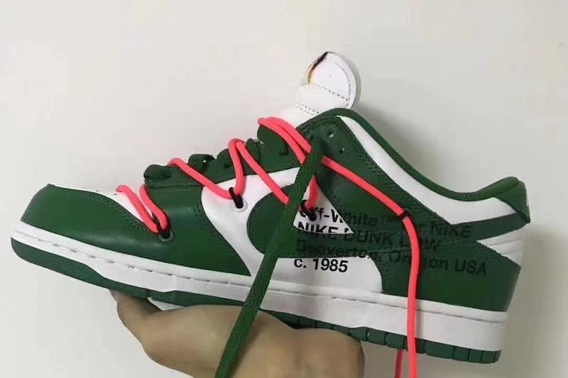 Off-White™ x Nike Dunk Low Virgil Abloh Release Date Pine Green Colorway Teaser Confirmation Sneaker Shoe Trainer