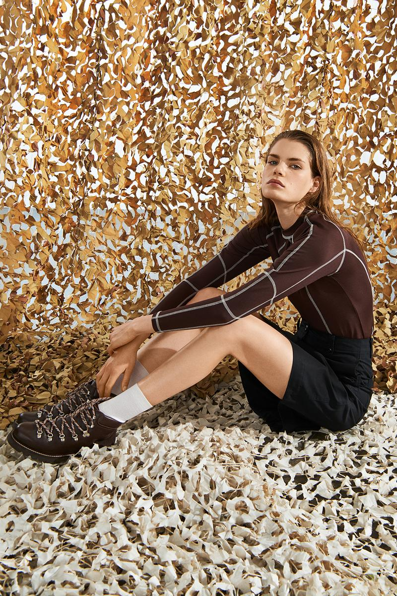 Wood Wood AW19 Womenswear Collection Campaign Dresses Jackets Coats Hiking Boots