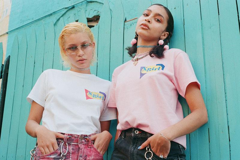 x-girl late-summer collection chynna rogers campaign womens t-shirts hoodies slip dresses streetwear