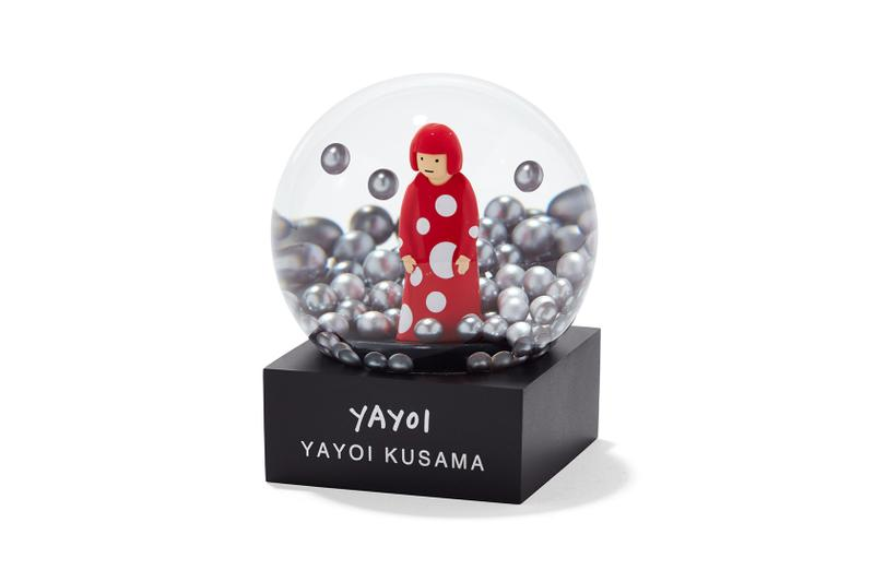 yayoi kusama mini snowglobes yellow pumpkin infinity room red silver narcissus garden art home decor