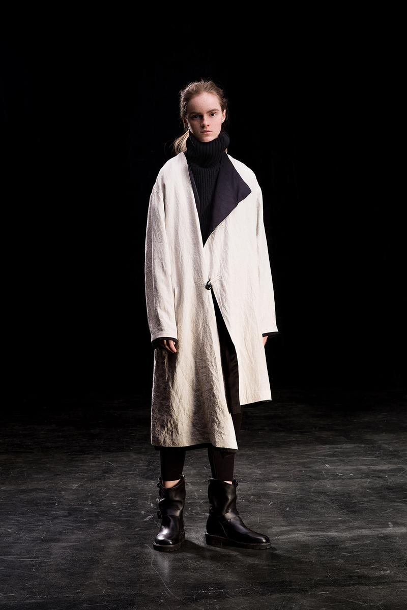 yohji yamamoto y's ys fall winter 2019 lookbook white jacket coat