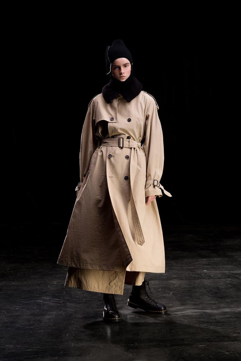yohji yamamoto y's ys fall winter 2019 lookbook beige trench coat