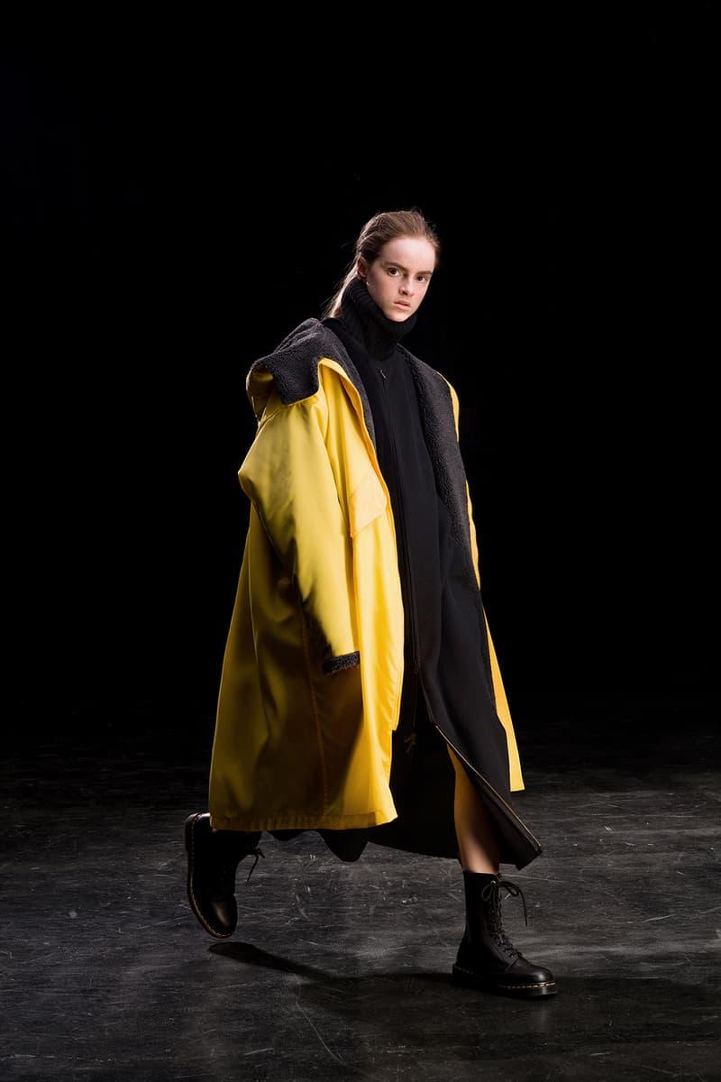 yohji yamamoto y's ys fall winter 2019 lookbook yellow coat