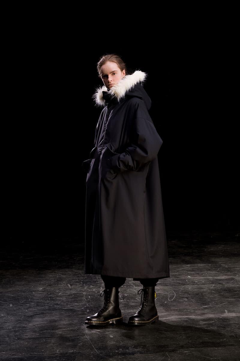 yohji yamamoto y's ys fall winter 2019 lookbook black jacket coat