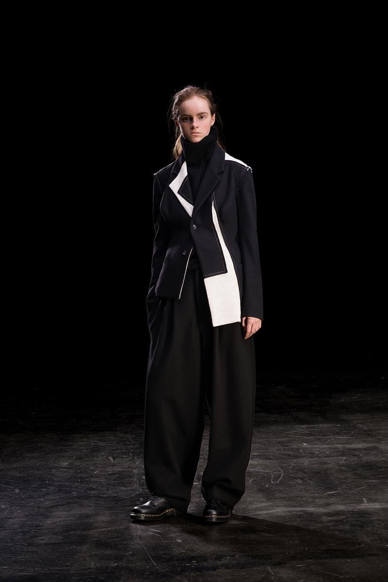 yohji yamamoto y's ys fall winter 2019 lookbook white coat black turtleneck