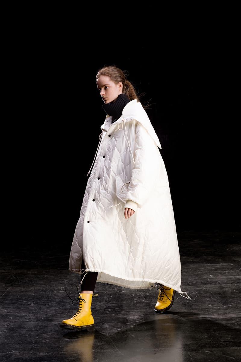yohji yamamoto y's ys fall winter 2019 lookbook white coat