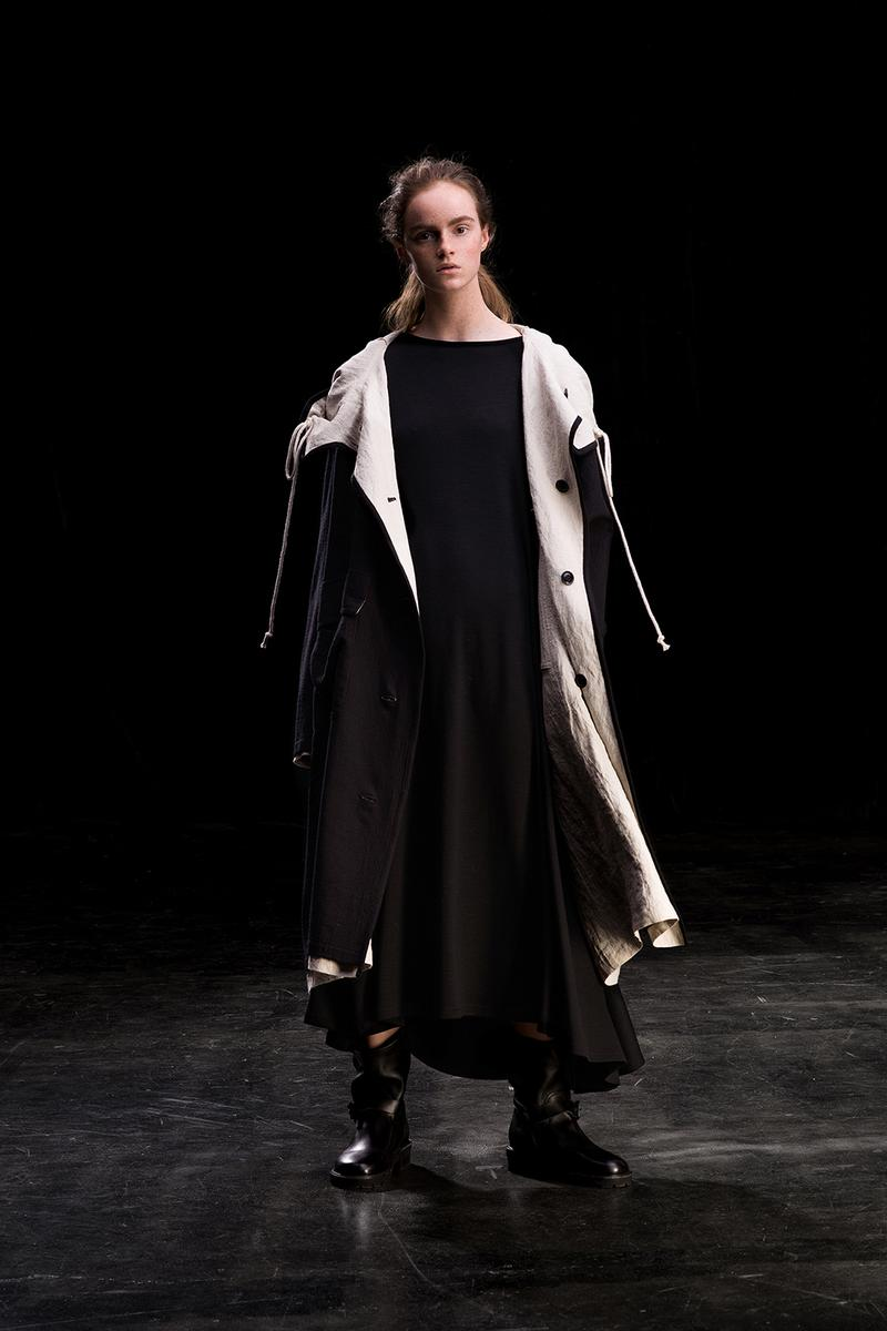 yohji yamamoto y's ys fall winter 2019 lookbook black coat