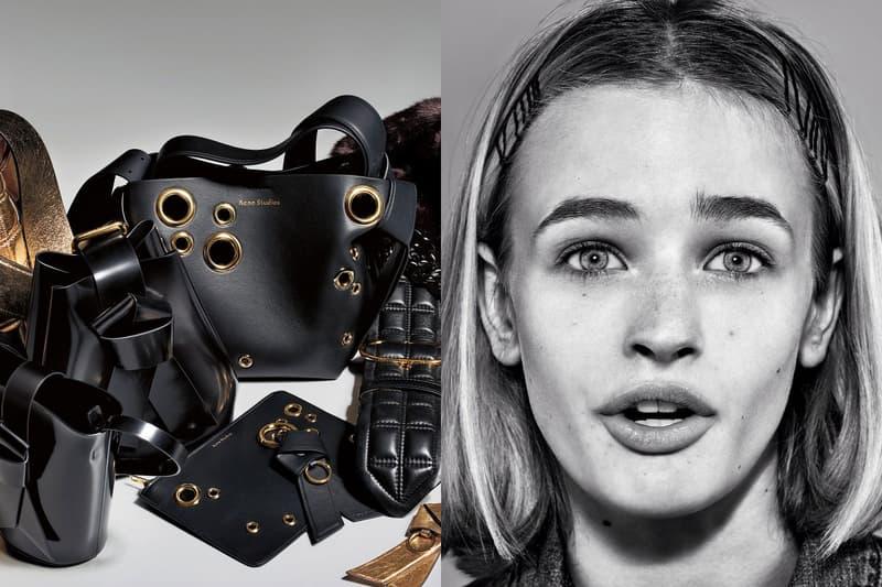 acne studios fall winter musubi bags campaign designer backpacks bucket mini