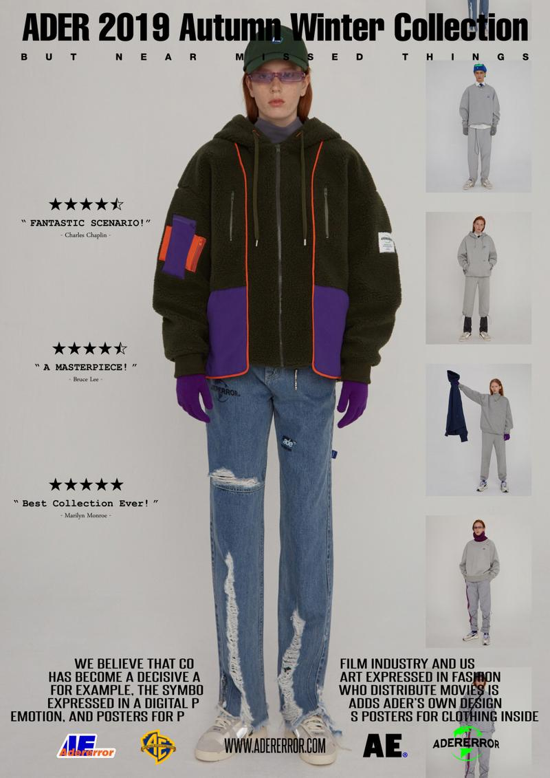 ader error fall winter collection film in fashion outerwear puffer coats jackets sweaters korean streetwear brand