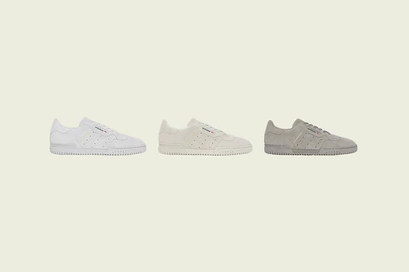 adidas yeezy powerphase sneakers suede white grey brown release footwear shoes sneakerhead