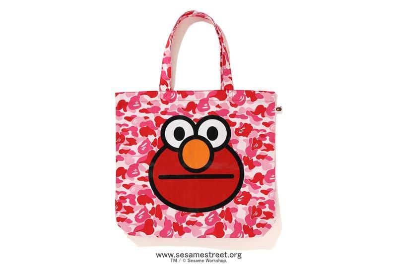 Sesame Street x BAPE Collection Collaboration Release Elmo Cookie Monster Baby Milo Bert Ernie