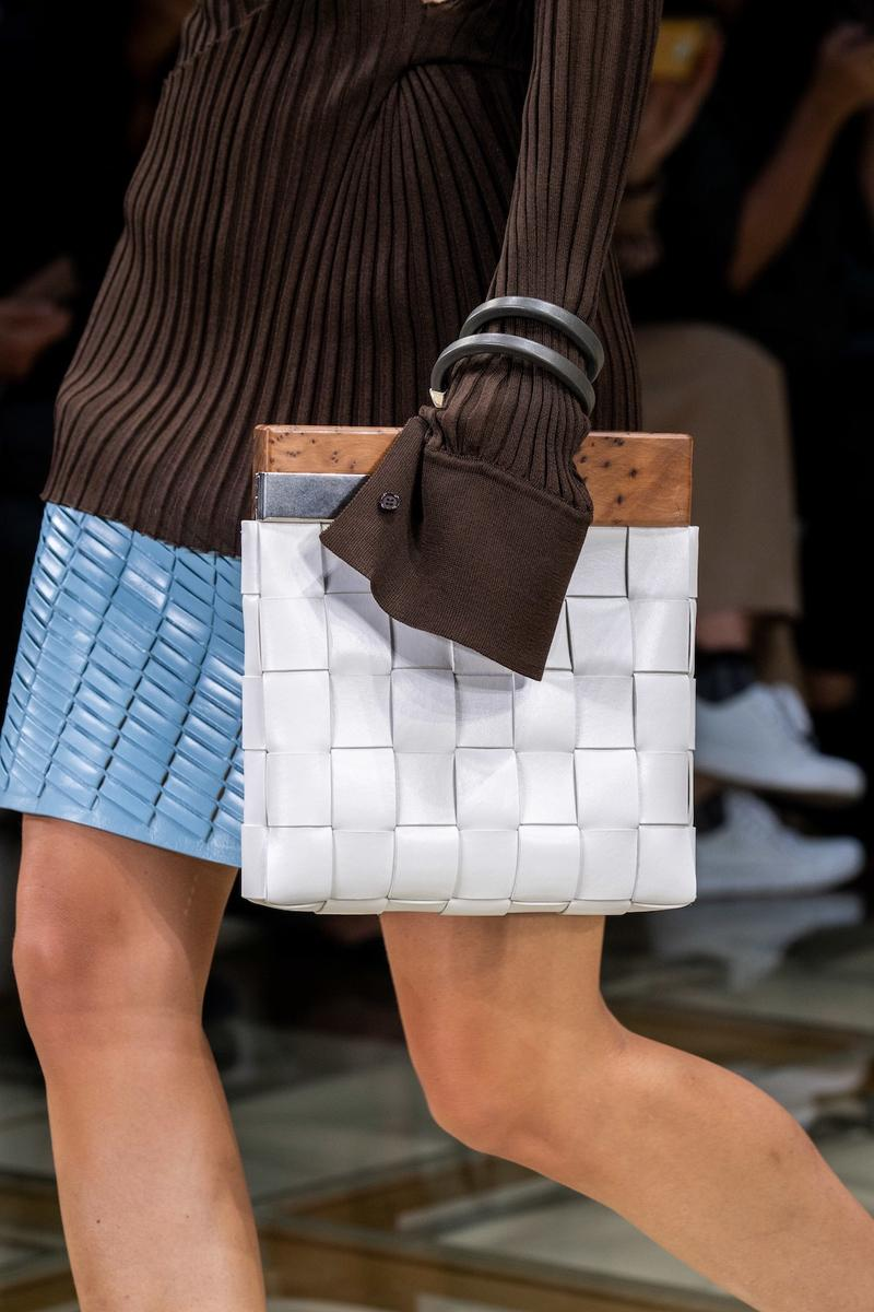 best bags shoes footwear bottega veneta milan fashion week mfw spring summer 2020 show clutches heels leather