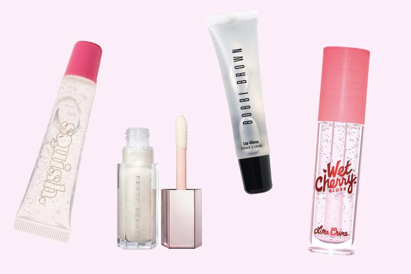 Best Non-Sticky Clear Lip Gloss '90s Trend Chanel Glossier Bobbi Brown Squish Fenty Beauty Shiseido Lime Crime