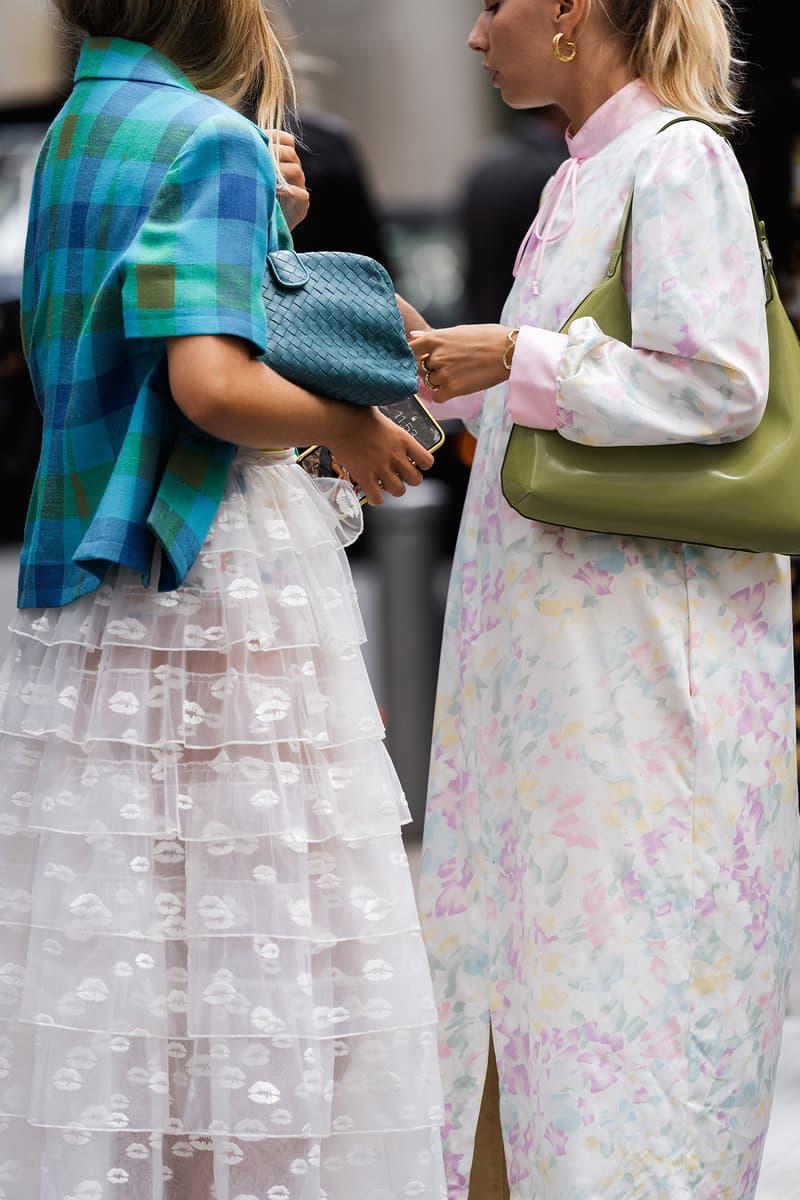 street style dresses bags