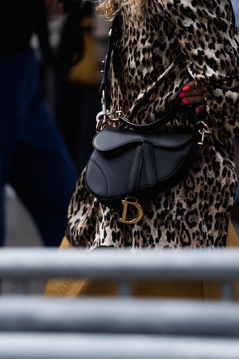 dior saddle bag black