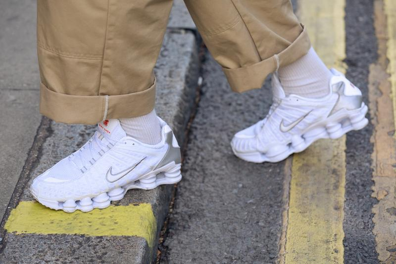 Best Street Style Sneakers London Fashion Week LFW SS20 Nike Shox TL Kendrick Lamar Cortez Prada Cloudbust Thunder Axel Arigato